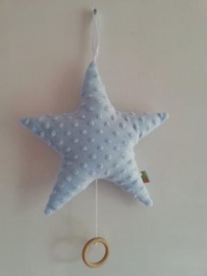 Muziekdoos Ster  babyblauw