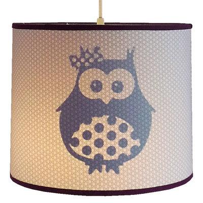 Hanglamp uil meisje paars