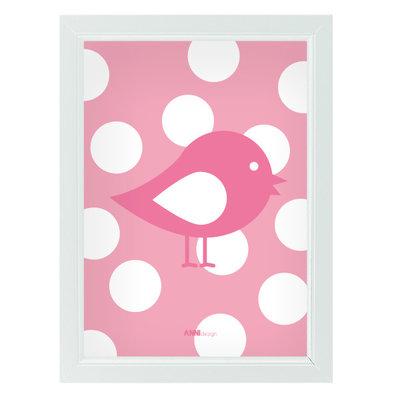 Poster Vogel/roze
