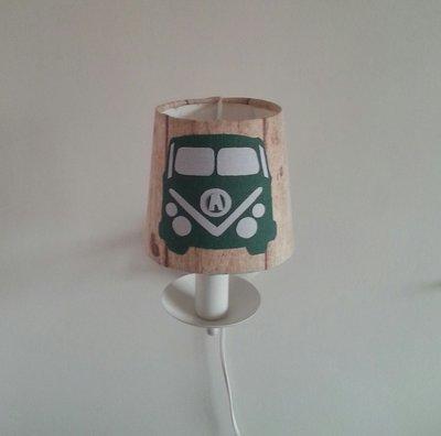 Wandlampje wit met Busje Retro