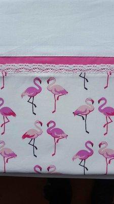 Baby overtrekje Flamingo