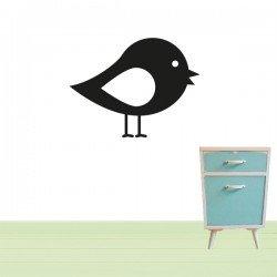 Muursticker Vogel zwart