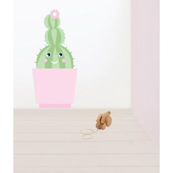 Muursticker Cactus rond