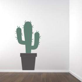 Muursticker set Cactus & pot