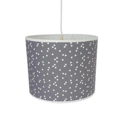 Hanglamp grijs driehoekjes