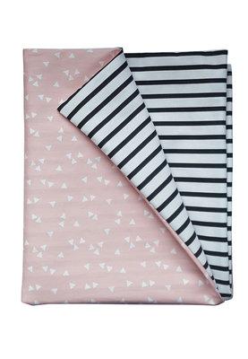 Overtrek Roze witte triangle