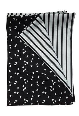 Overtrek zwart witte driehoekjes