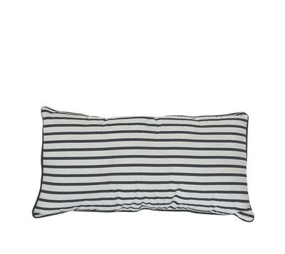 Kussen streep zwart-wit