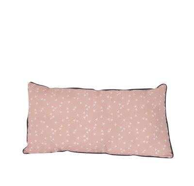 Kussen Roze met witte driehoekjes