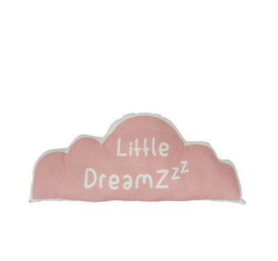 Kussen Wolk Litlle Dreamzzz roze