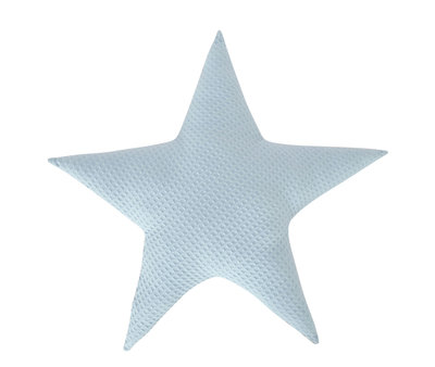 Kussen Ster wafelstof Licht blauw
