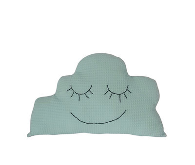 Wolken kussen wafelstof mint