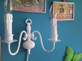 Twee armig wandlampje zonder kapjes