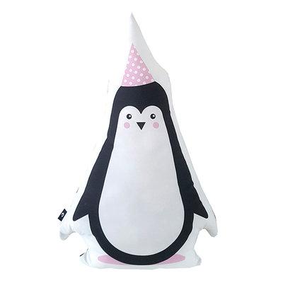 Kussen Feestbeesten Pinguin Roze