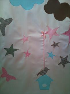 Gordijnen sterren en vogels