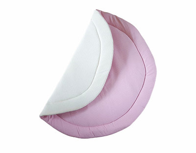 Speelkleed wafelstof twee kleurig ecru & roze
