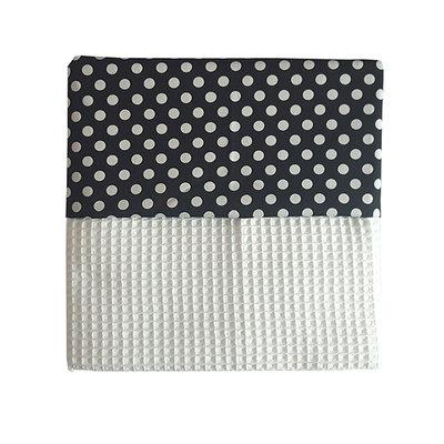 Ledikant deken wafelstof wit Stip