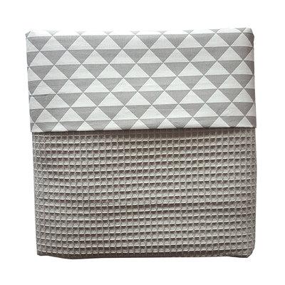 Ledikant deken wafelstof poedergrijs driehoek