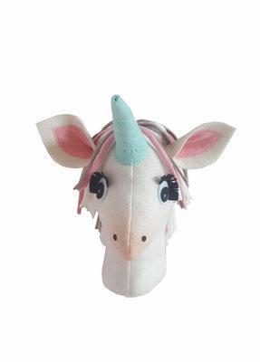 Wandhoofd Unicorn wit