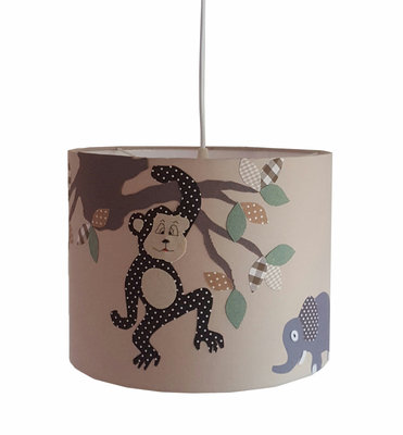 Hanglamp Jungle aapje beige