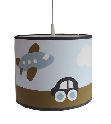 Hanglamp Vliegtuig & Auto blauw/legergroen