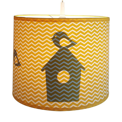 Lamp silhouet vogelhuisjes zigzag oker