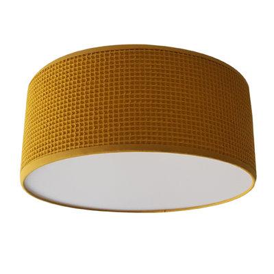 Plafondlamp Wafelstof Oker