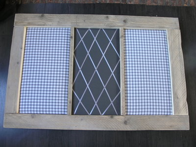 Prikbord steigerhout grijs