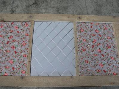 Prikbord 3-vaks vlinder grijs