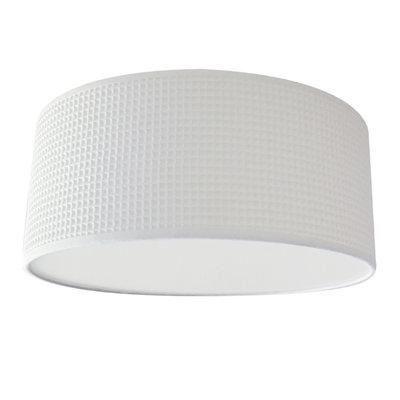 Plafondlamp Wafelstof Wit