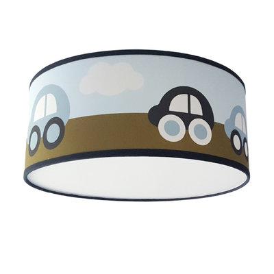 Plafondlamp Auto's olijfgroen/blauw