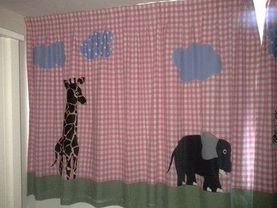 Hippe gordijnen Safari & toekans meisje