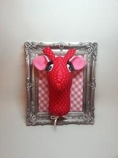 Hip Girafhoofd roze-rood