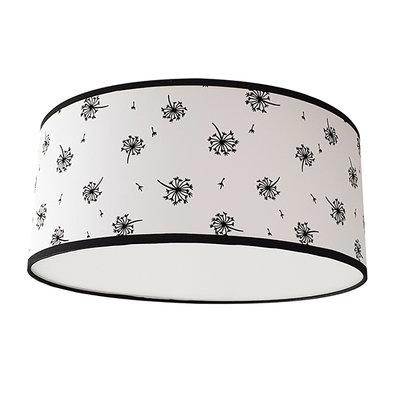 Plafondlamp paardenbloem zwart/wit