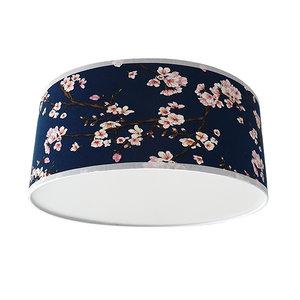 Plafondlamp lentebloesem donker oud blauw