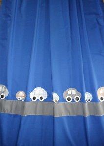 hippe handgemaakte gordijnen auto brroem blauw