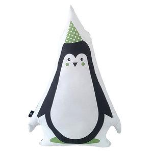 Kussen Feestbeesten Pinguin Groen