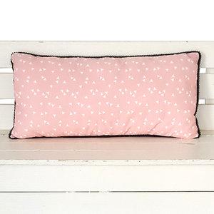 Kussen Triangle roze 50x25