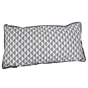 Kussen driehoek grijs 50x25