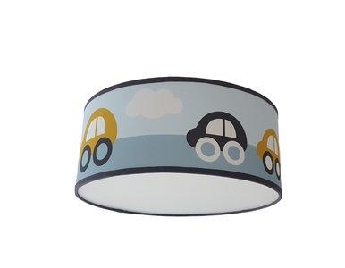 Plafondlamp Auto's oker/blauw