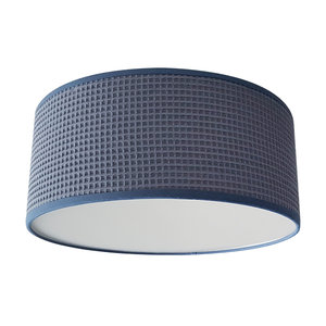 Plafondlamp Wafelstof Oud blauw