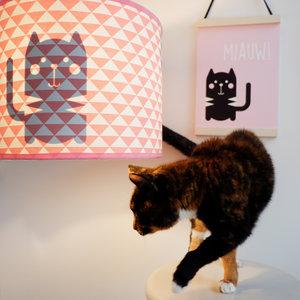 lamp poes silhouet driehoek roze