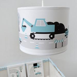 Lamp voertuigen graafmachine blauw