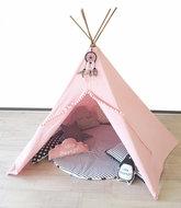 Tipi tent licht roze met Dromenvanger