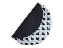 Speelkleed wafelstof zwart kruisje