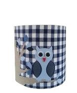 Hanglamp Uil op tak blauw