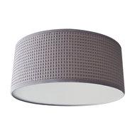 Plafondlamp Wafelstof poedergrijs