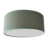 Plafondlamp Wafelstof poedergroen