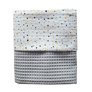 Ledikant deken confetti poedergrijs
