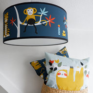 plafondlamp jungle donkerblauw